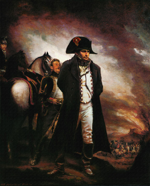 historical portrate nepolion french king battle waterloo
